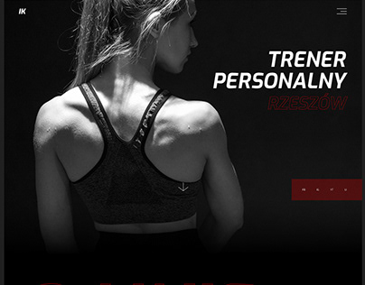 PERSONAL TRAINER webdesign concept