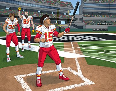 2019 Kansas City Chiefs social media illustrations.