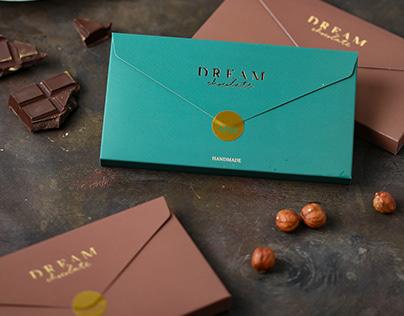 Dream chocolate: logo design & packaging
