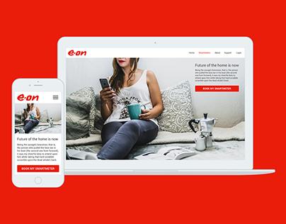 EON Smartmeter Booking UX/UI Design