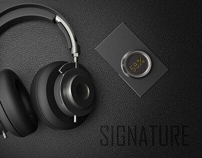 Signature bluetooth headphones with wireless hi-fi DAC
