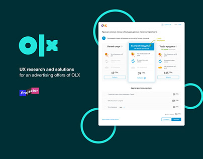 UX research and solutions for OLX