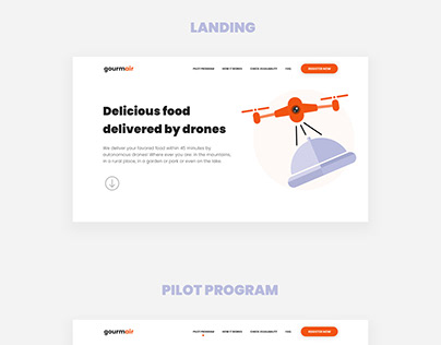 Landing Page - Drone Food Delivery Service