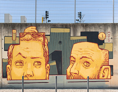 Cara metade - mural in Lisbon
