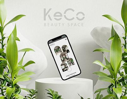 """Web design for beauty salon """"Keco"""""""