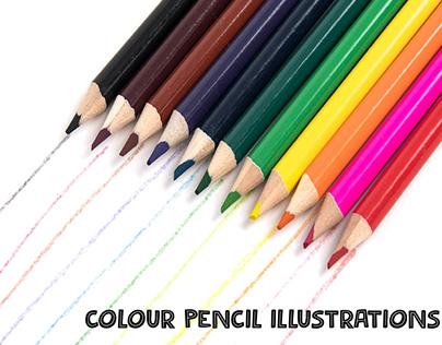 colour pencil illustrations