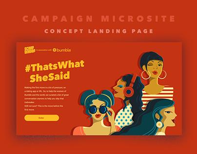 Bumble campaign concept design