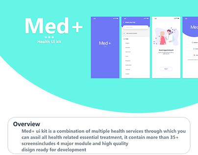 Med + app free Ui kits