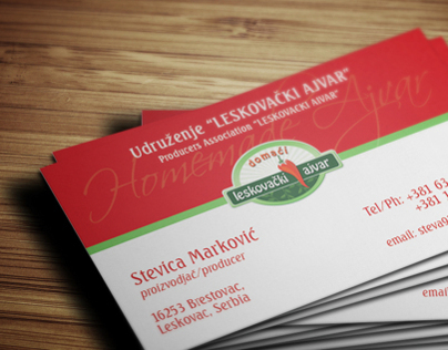 BusinessCard Design for Producers Association