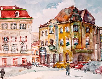 Watercolors. Romania.