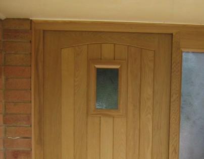 A simple European Oak door set
