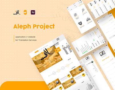 Aleph - For Translation Services | App // Website
