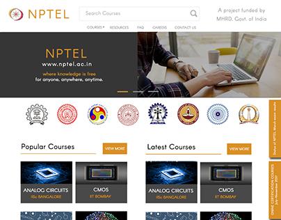 Redesigning NPTEL website
