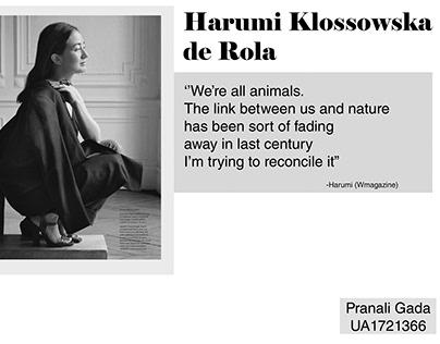 Harumi Klossowska de Rola (Client project)