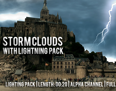 Storm Clouds with Lightning Pack