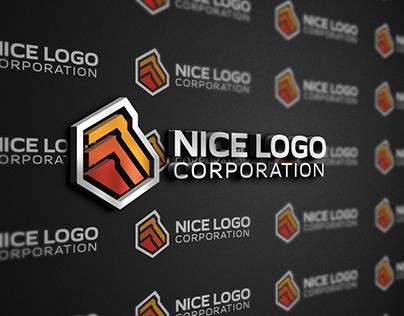 Indigo - deformed hexagon logo