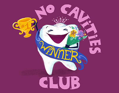 No Cavities Club digital painting illustration