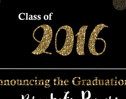 Class of 2016 Graduation Announcement