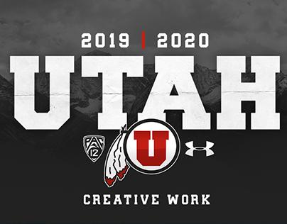 2019/2020 Utah Football Creative Work