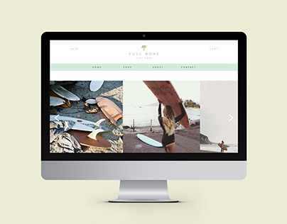 Full Bore Surf Shop Website