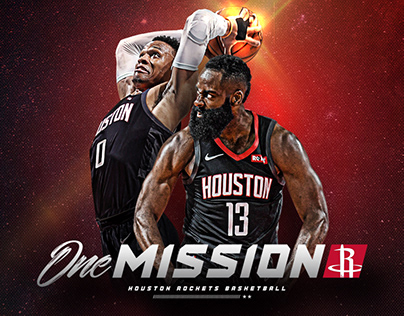 Micah Kamla's One Mission - 2019/2020 Rockets Campaign on Behance
