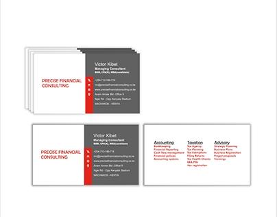 PFC business card design