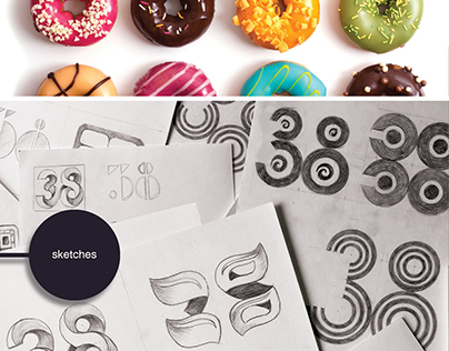 Donats & Ice Cream  Roll Kiosk Logo Design