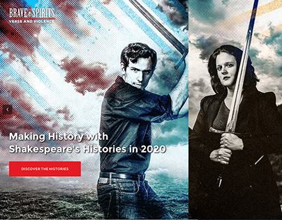 Brave Spirits Theatre Web Design