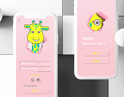 Sign in flow UX/UI XD daily challenge