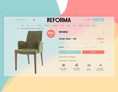 Reforma Web UI - Modern GlassMorphism UI 2021