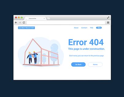 Error 404 Daily UI Challenge