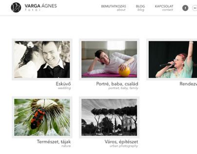 Varga Ágnes fotói | logo, website