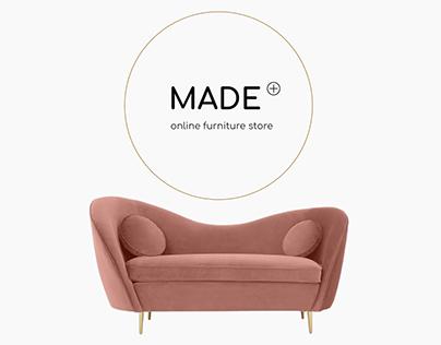 Online Furniture Store - Website Concept
