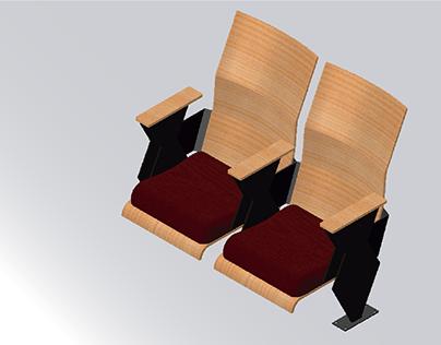 Sillas para auditorio (Estilo Nórdico)