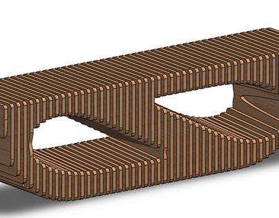 Cnc Laser Cut Parametric Bench Design Free DXF File