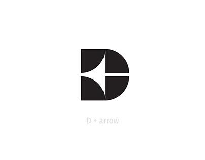 Letter D+arrow