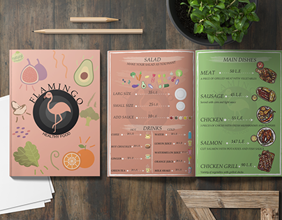 menu design Flamenco