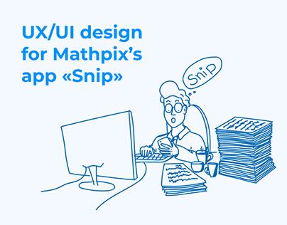 UX/UI design web&mobile app «Snip»