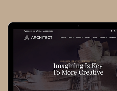 Tablet View - Architect WordPress theme
