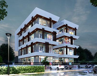 Modern Commercial Building Elevation