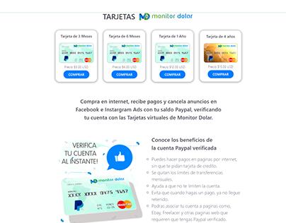 Modulo de tarjetas para MonitorDolar
