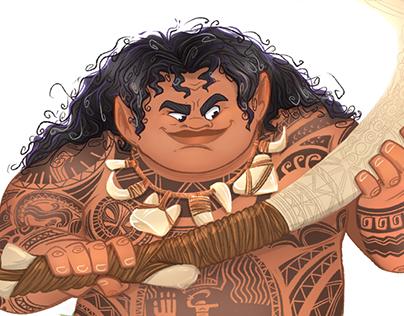 Maori / Moana fanart