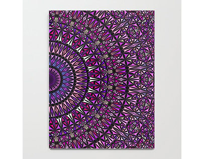Pretty Particle Pattern Mandala Notebook