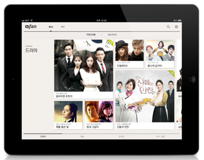 SK PLANET 'TV FAN' IPAD APP DESIGN