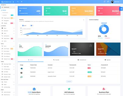 Gradient Able Bootstrap 4 & Angular 5 Admin Dashboard
