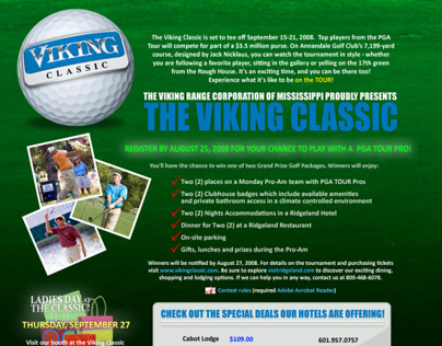 VikingClassic Golf Tournament Web