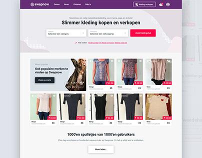 Swap Now Webshop Clothing selling website