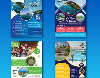 Travel Agency Flyer Design Bundle
