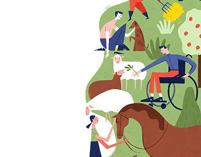 Albert Pinilla illustration for Gemenskap & Påverkan