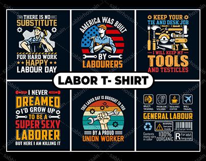 USA Laborer Day T-Shirt Design